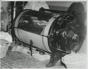 One of several industrial-scale washing machines the Orphanage girls had to manage