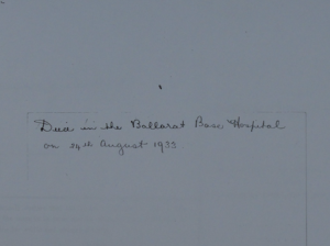 The brief note in Joyce's file records her death. Where was the compassion?